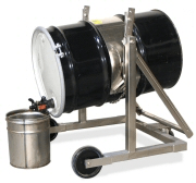 stainless steel mobile drum carrier.