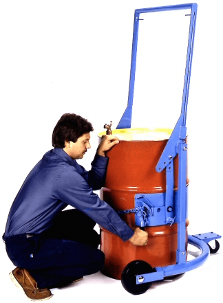 Mobile drum carrier - secure drum in holder
