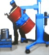 drum palletizer that pours