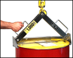 Stainless Steel Below-Hook Drum Lifter.