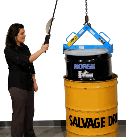Morse model 92 Drum Lifter for 55-gallon steel, fiber or plastic drum