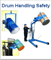 MORcinch Options to handle a plastic drum, fiber drum, or a smaller drum