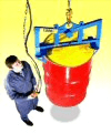Below-hook drum lifters