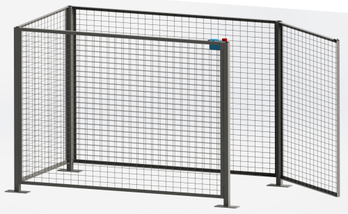 safety enclosure with interlock