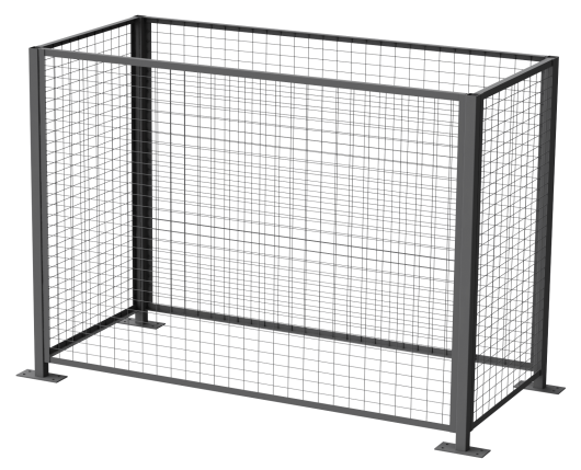 Guard Enclosure for Single Stationary Drum Rollers
