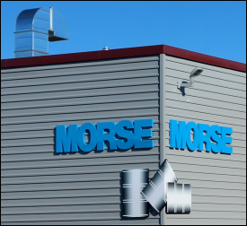 Morse Logo Sign on Our New Factory
