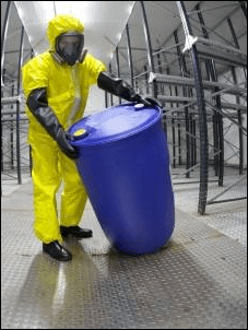 Moving drums with hazardous contents