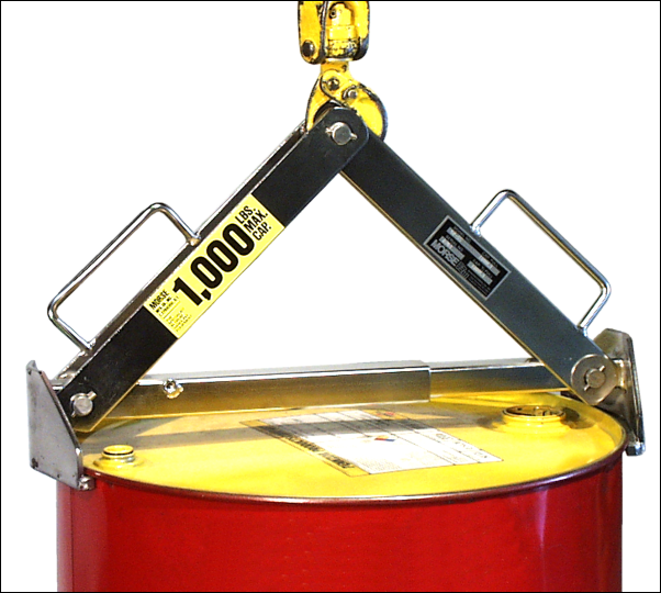 Drum lifter model 92-SS is made of type 304 stainless steel