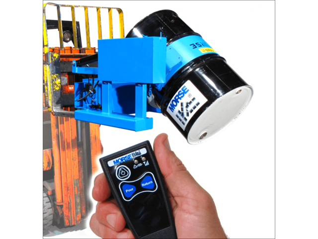 Forklift attachment with wireless tilt control
