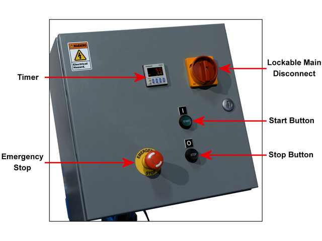 Electric Control Box for NON-Explosion-Proof drum tumbler