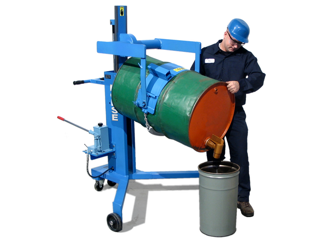 Drum Palletizers and Pourers with Spark Resistant Parts
