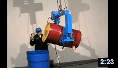 Video of Below-Hook Drum Carriers with Power Drum Tilt Control