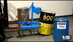 Video of MORSPEED 1000 Forklift Drum Handler
