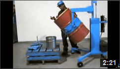 Video of Morse 82A Drum Palletizers that Pour